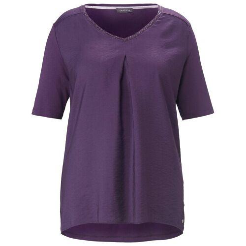 Samoon Blusen-Shirt 1/2-Arm Samoon lila