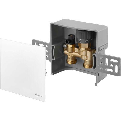 Oventrop Unibox Rücklauftemperaturregelung 1022760 Echtglas weiß, mit Ventil und Rücklauftemperaturbegrenzer