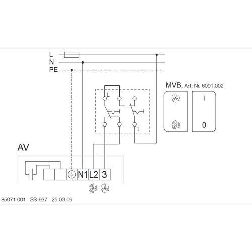 Helios Außenwand Abluftventilator 2655 AV 125, mit Rohranschluss
