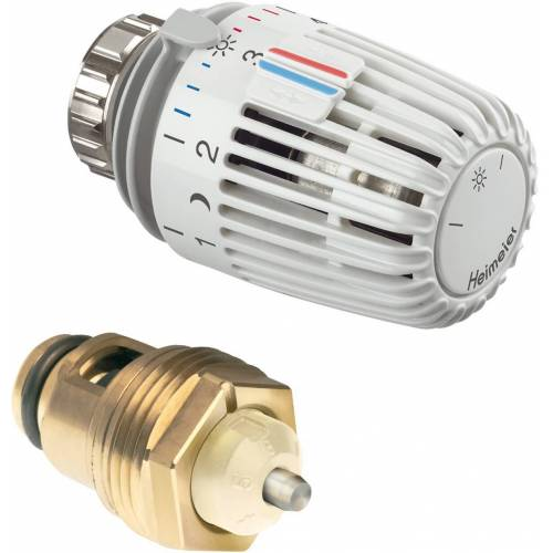 Heimeier Thermostat-Nachrüst-Set 3500-13.800 weiß, mit Thermostat-Oberteil/-Kopf K, für DN 20