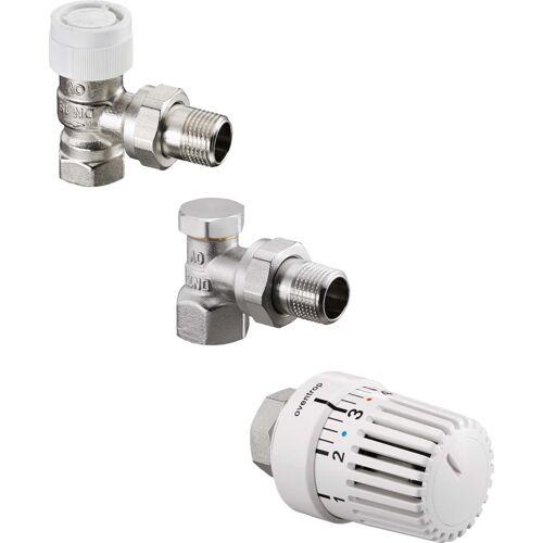 Oventrop Uni LH Thermostatventil-Set 1683703 DN 10, Eckform, mit Thermostat