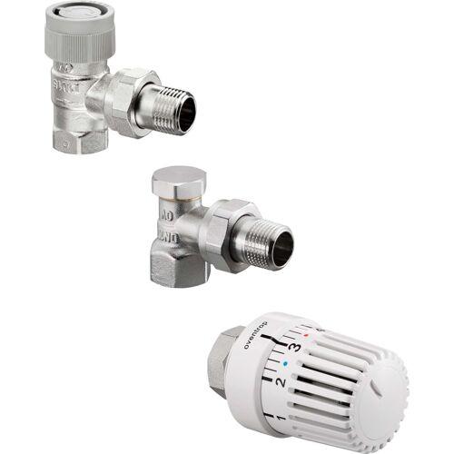 Oventrop Uni LH Thermostatventil-Set 1703063 DN 10, Eckform, mit Thermostat