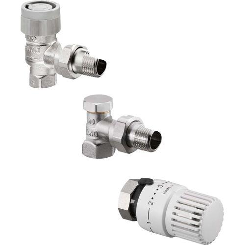 Oventrop vindo Thermostatventil-Set 1713063 DN 10, Eckform, mit Thermostat