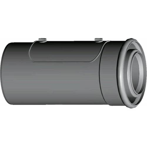Wolf Cob Luft-/Abgasrohr 2651470 DN 80/125, 250 mm, steckbar, mit Revisionsöffnung, weiß