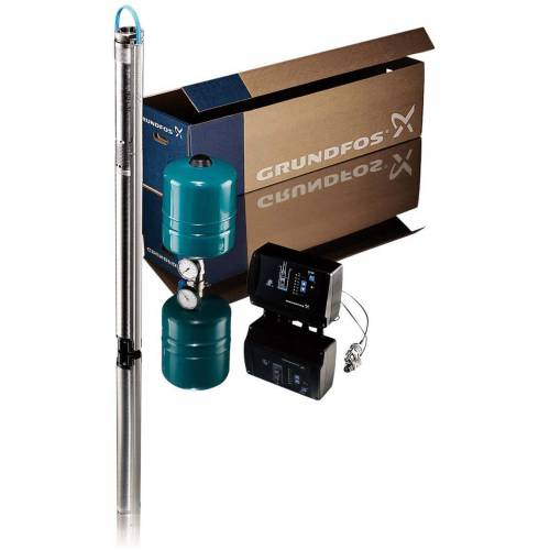 Grundfos Unterwasserpumpe 96524501 mit 40 m Unterwasserkabel 3x 1,5 qmm flach