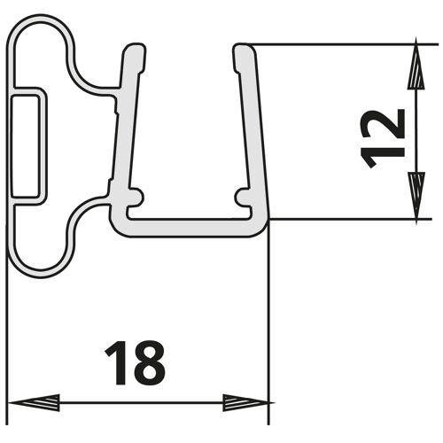 Kermi Pasa Magnetprofil 6031610 bis 2000mm, für TWD, TVD
