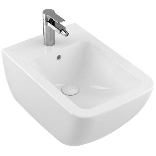 Villeroy und Boch Venticello Wand-Bidet 441100RW 56x37,5cm, stone white C-plus, mit Hahnloch, mit Überlauf