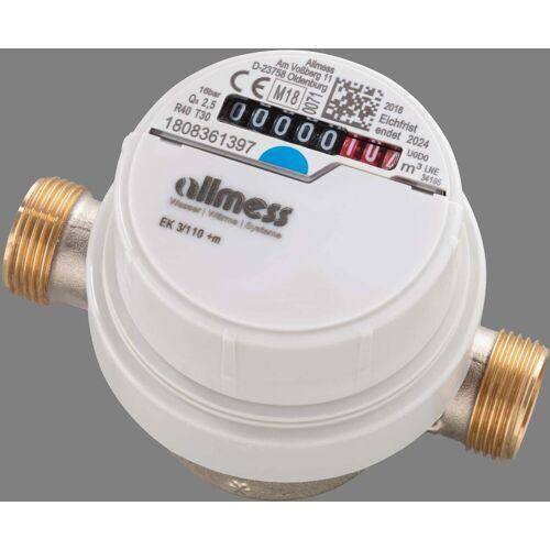 Allmess Aufputzwasserzähler 6EKB20130C40NBA EVK 5/130V, Q3 4,0, DN 20, 130mm, TU6+m
