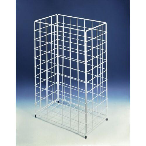 CWS Papierkorb 903102000 weiss, 41x25x62cm, aus Stahldraht, Inhalt 60l, aus Stahldraht