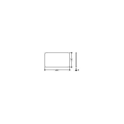 Hewi Glasplatte 63499 200 x 115 mm