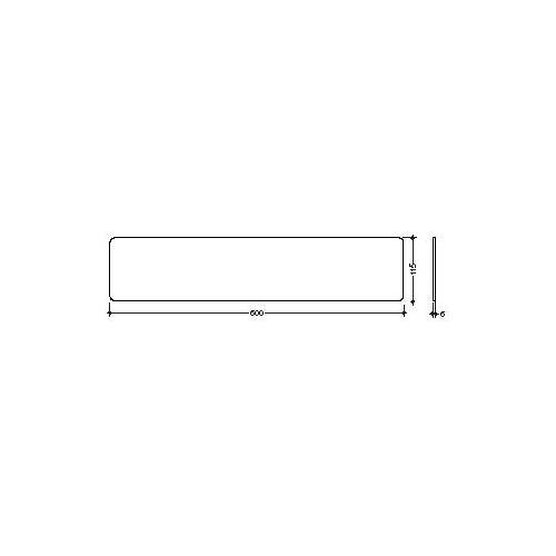 Hewi Glasplatte 63484 600 x 115 mm