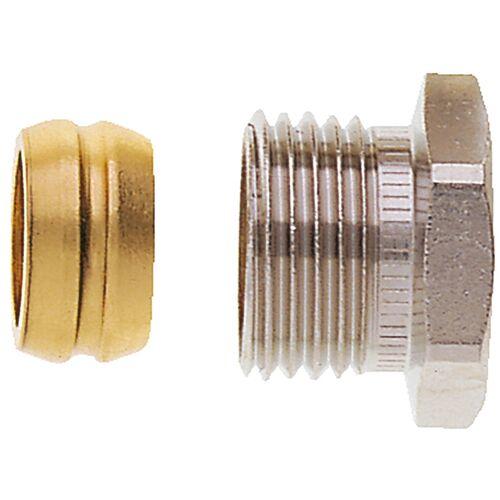 Heimeier Klemmverschraubung 2201-12.351 Rp 3/8, Ø 12mm, Messing vernickelt