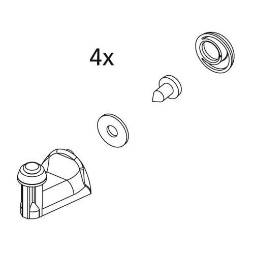 Kermi Ibiza 2000 Führungshaken 2533895 I2R, für Viertelkreis-Duschkabine, weiß, Ersatzteilset