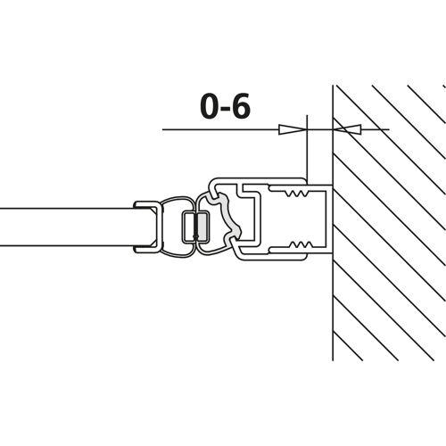 Kermi Pasa Magnetprofil 6027961 bis 2000mm, für 1TO, 1FN, 1 TR/L