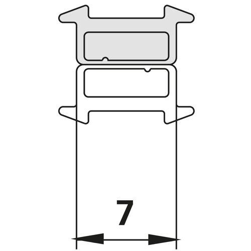 Kermi Raya Magnetprofil 6008261 bis 2000mm, für 1WR/L, 1GR/L