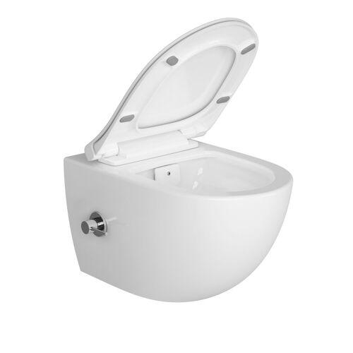 Vitra Aquacare Sento WC Set 7748B003-6206 VitrA Flush 2.0 mit Bidetfunktion, mit integrierter Armatur