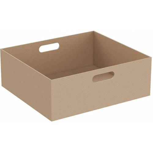 Vitra Equal Leder-Box 64114 45 x 40 x 16 cm, 2 Grifflöcher, beige