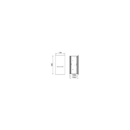 Emco Asis Einbaurahmen 972500021 für Module mit einer Einbauhöhe von 344 mm