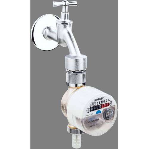 Allmess Zapfventilwasserzähler 1401112206 GWZ 3-V-K+m, Q3 2,5, DN 15, 82mm