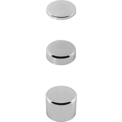 ASW Universal Stedo Blindrosette 400954 Messing verchromt, h 15 mm, D 80 mm