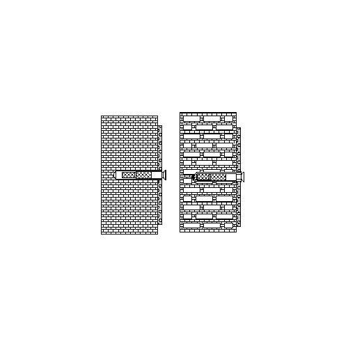 Hewi 801/805 Klappsitz-Befestigung BM48.6 Voll-/Hochlochziegel, Hohlblockstein