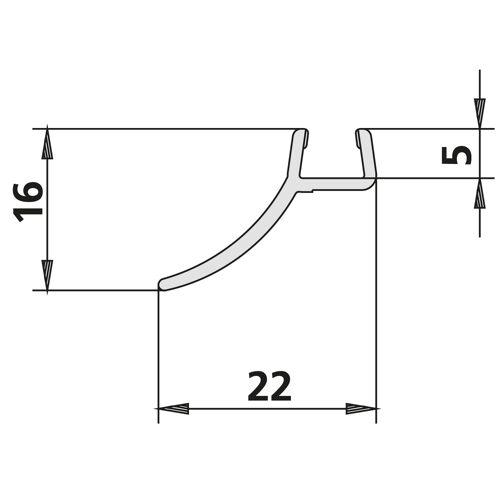 Kermi Gia Dichtleiste 2534090 bis 2000mm, senkrecht, 1 Wandabdichtung