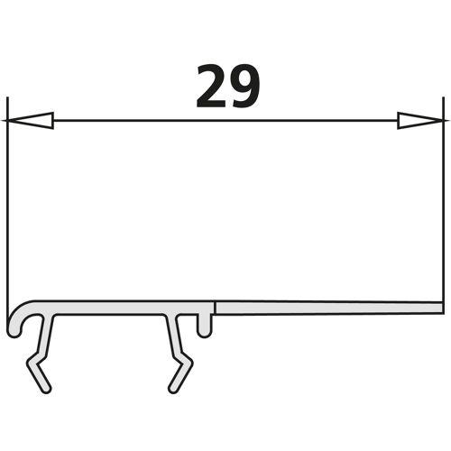Kermi Liga Dichtleiste 2534973 Glasdichtung senkrecht links, bis 2000mm