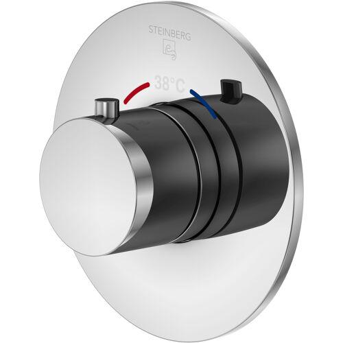 Steinberg Serie 100 Brausethermostat 1004300 chrom, Unterputz Thermostat, mit Unterputzkörper