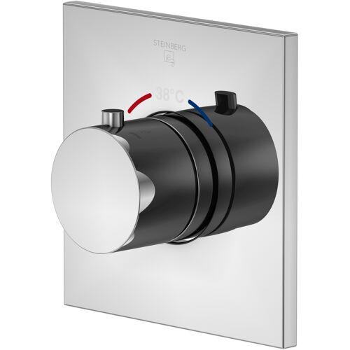 Steinberg Serie 120 Brausethermostat 1204300 chrom, Unterputz Thermostat, mit Unterputzkörper