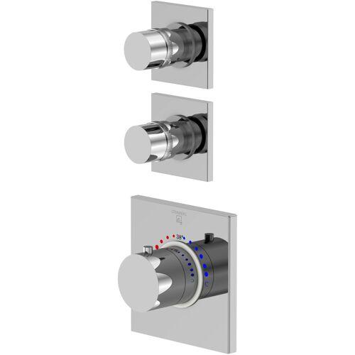 Steinberg Serie 120 Brausethermostat 1204320 chrom, Unterputz Thermostat, mit Unterputzkörper