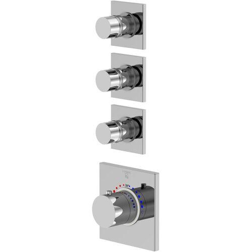 Steinberg Serie 120 Brausethermostat 1204330 chrom, Unterputz Thermostat, mit Unterputzkörper