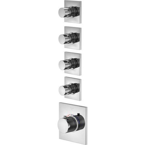 Steinberg Serie 120 Brausethermostat 1204340 chrom, Unterputz Thermostat, mit Unterputzkörper