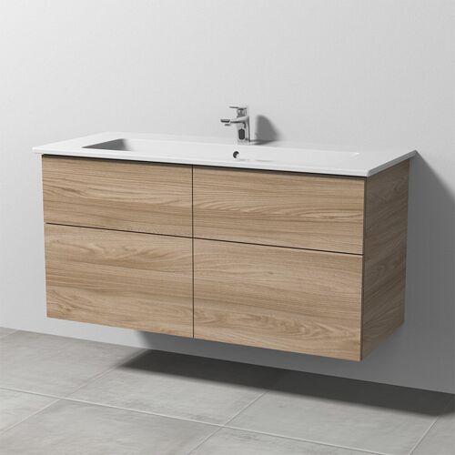 Sanipa 3way Keramik-Set Venticello inkl. Keramik-Waschtisch und Waschtischunterbau mit 4 Auszügen, U SM32715