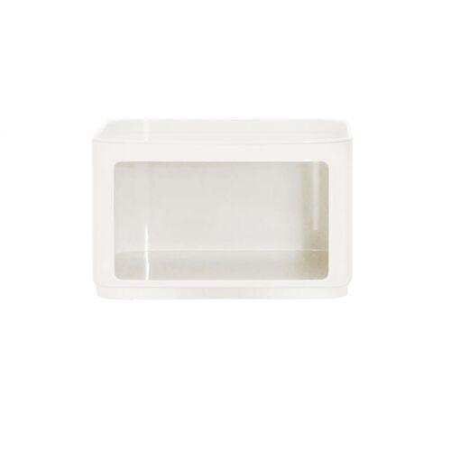 Kartell Componibili Container Baukastensystem H 38,5cm rund mit Tür silber