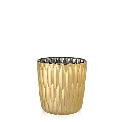 Kartell Jelly Vase gold metallic