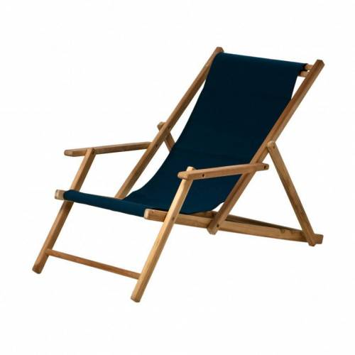 Jan Kurtz Maxx Deckchair Liegestuhl Bezug Polyacryl blau