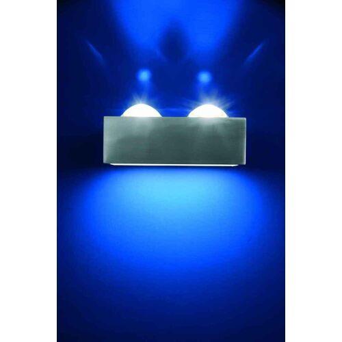 Top Light Focus 150 Hochvolt Halogen Wandleuchte-Focus 2x Linse/Glas nickelma...