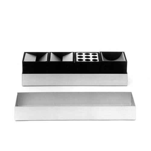 Danese Milano Canarie Schreibtisch-Set weiß 2 Stiftehalter, 2 Büroklammern-Halter