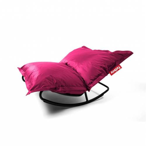 Fatboy Rock 'n Roll Schaukelstuhl und Original Sitzsack Rock 'n Roll Schaukelstuhl + Original Nylon Sitzsack pink