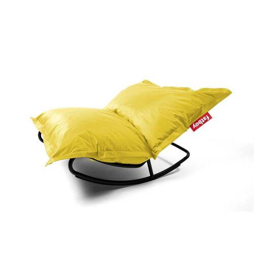 Fatboy Rock 'n Roll Schaukelstuhl und Original Sitzsack Rock 'n Roll Schaukelstuhl + Original Nylon Sitzsack gelb