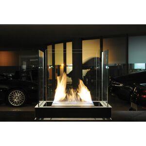 Radius Design Top Flame Ethanol Kamin weiß / Edelstahl matt 1,7 l Brennkammer