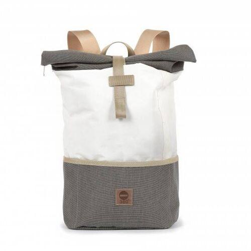 360° Taschen 360° Lotse Segeltuchrucksack weiß / Persenning beige