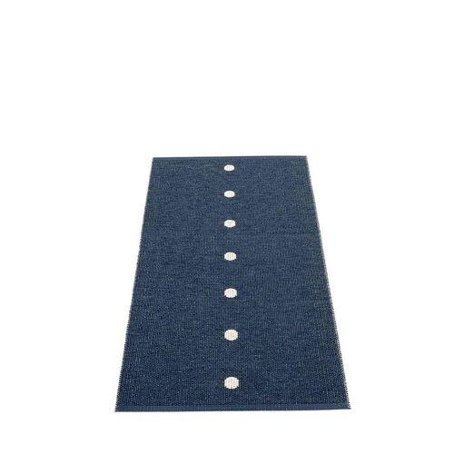 pappelina Peg Outdoor-Teppich - dunkelblau / vanille 70 x 140cm