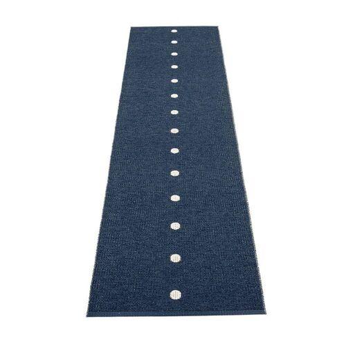 pappelina Peg Outdoor-Teppich - dunkelblau / vanille 70 x 280cm