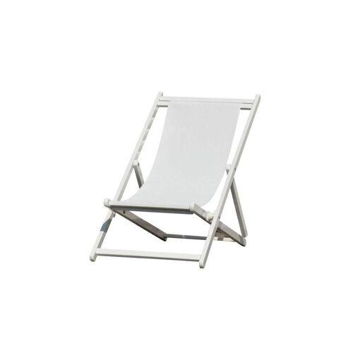 Jan Kurtz Rimini Deckchair Liegestuhl weiß weiß