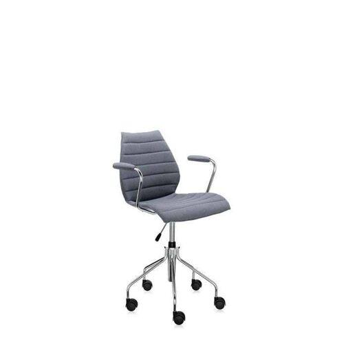 Kartell Maui Soft Bürostuhl mit Armlehnen grau