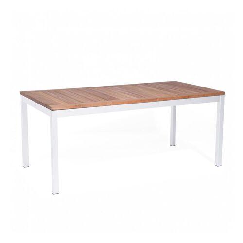 Jan Kurtz Quadrat Tisch 180 x 90cm HPL Zementoptik weiß