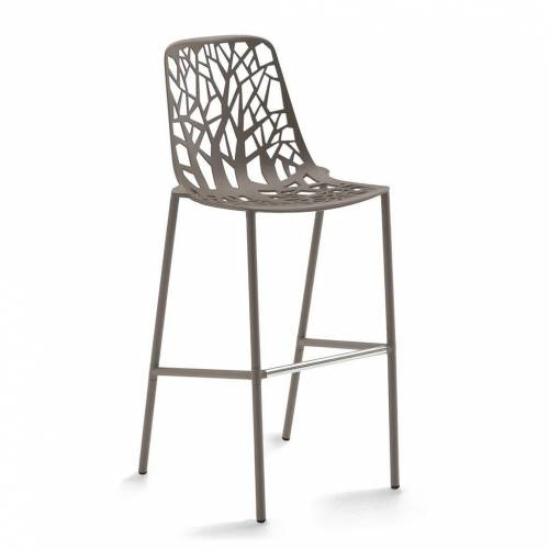 Fast Forest Outdoor Barhocker, H 78cm taupe