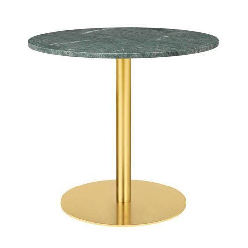 Gubi Table 1.0 Esstisch rund Ø 80cm Marmor grün messing