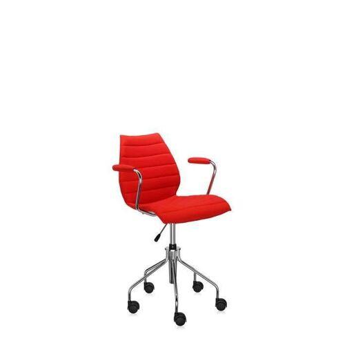 Kartell Maui Soft Bürostuhl mit Armlehnen rot